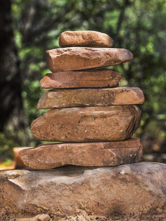 A cairn on a trail near Sedona