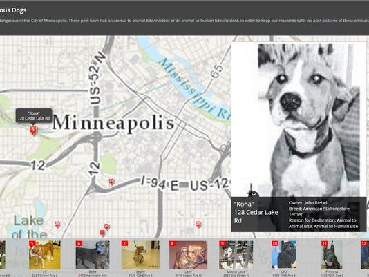 Minneapolis maps out city's 'Dangerous Dogs'