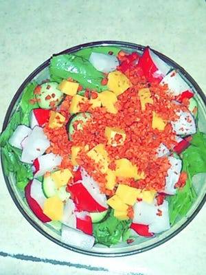 :                 Lovina's husband, Joe, loves salad for lunch, and right now all the vegetables for his salad come from their garden.