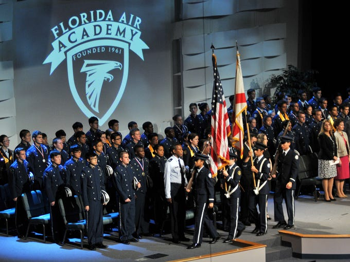 Florida Air Academy Commencement Exercise held May 16th at Calvary Chapel in West Melbourne.