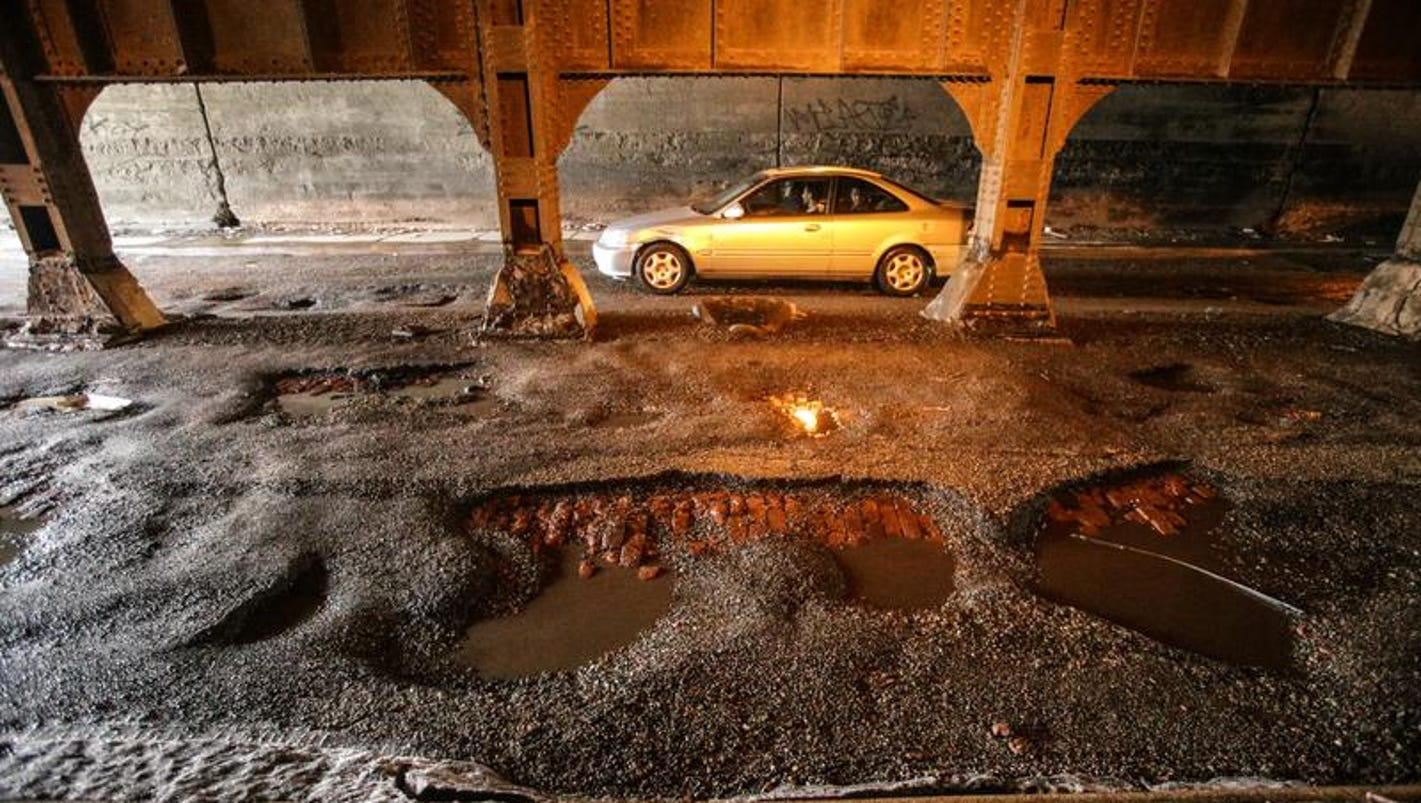 Image result for indianapolis potholes