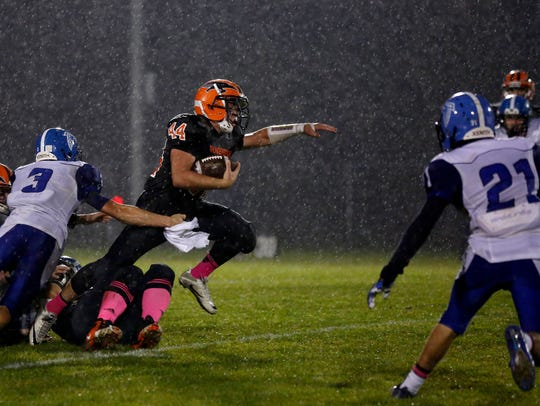 Iola-Scandinavia junior halfback Bryce Huettner, who ranks 10th in the state with 1,669 yards, has been one of many reasons why the Thunderbirds earned a top seed in their Division 6 grouping of the WIAA playoffs.