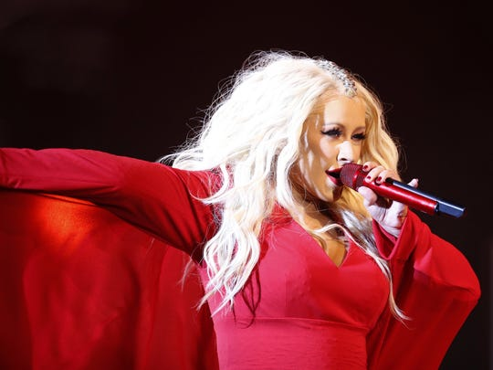In this May 28, 2016 file photo, Christina Aguilera performs during a concert at the annual Mawazine Music Festival in Rabat, Morocco.