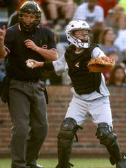 Stewarts Creek catcher Chase Vondohlen fires the ball