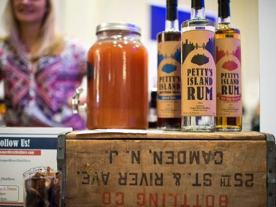 Petty's Island rum from Cooper River Distillers in Camden on display at Philadelphia Magazine's Whiskey Fest as part of Craft Spirits Week Thursday, Oct. 27 in Philadelphia.