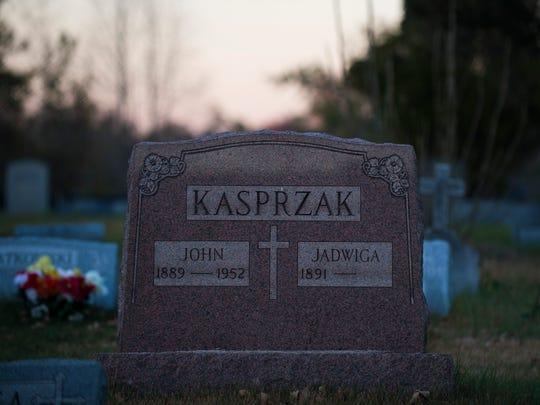 A gravestone inside Christ the Resurrection Cemetery in Bellmawr.