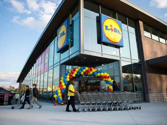 The new Lidl grocery store hosts a grand opening Thursday, Nov. 16, 2017 in Vineland.
