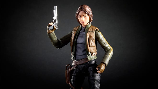 Felicity Jones' heroine Jyn Erso plays a major role in the new 'Rogue One' toy line, beginning with a Black Series figure.