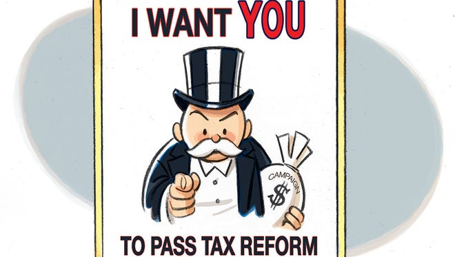 Tax reform recruiting poster