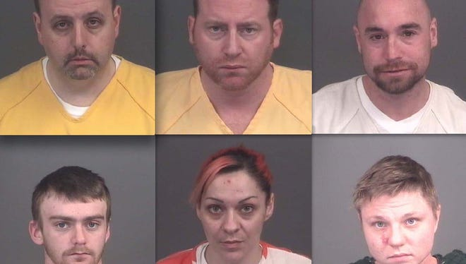 Top row, from left: Keith Kirkwood, Thomas Mayer and Joseph Russo. Bottom row: Randy Carpenter, Nicole Lawson and Michelle Delaney.