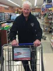 Howe grocery shopping at a Kroger near Toledo last