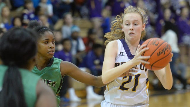 Back-to-back 3-pointers by Emily Ward helped Benton advance to the second round Thursday.