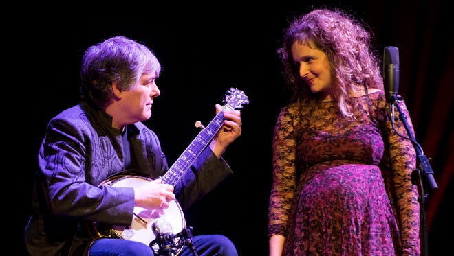Béla Fleck and Abigail Washburn perform together at the Tennessee Theatre as part of the Big Ears Festival in downtown Knoxville on Saturday, March 24, 2018.