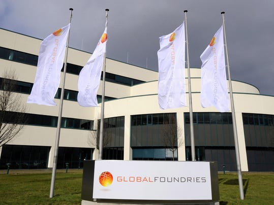 The logo of US chipmaker Globalfoundries