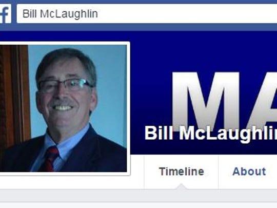 A screenshot of Chambersburg mayor candidate Bill McLaughlin's
