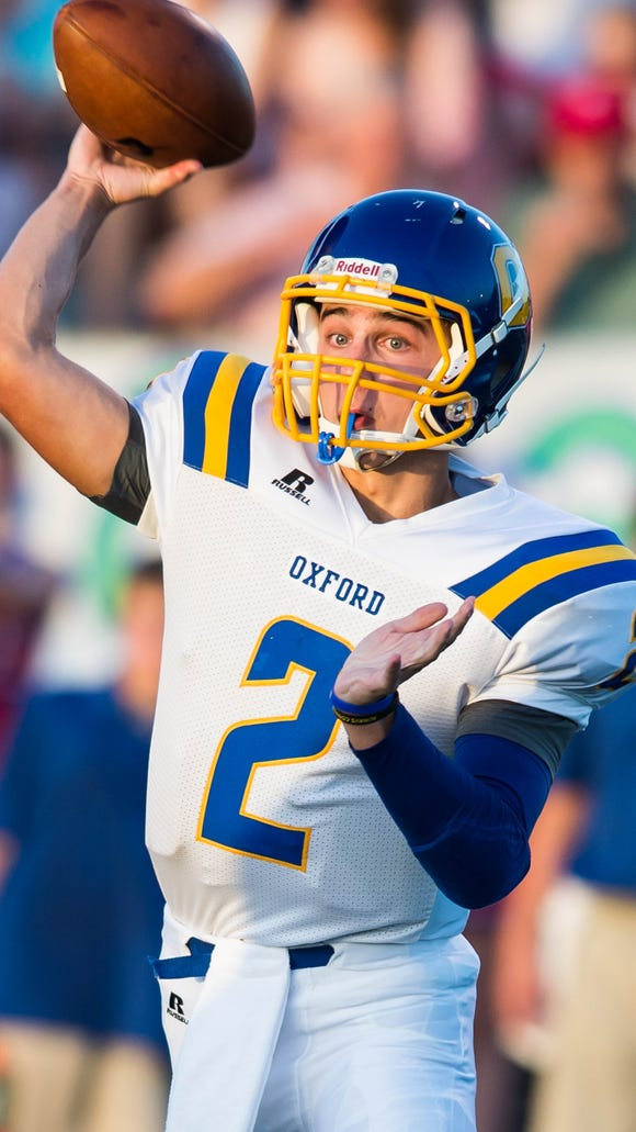 Oxford quarterback Jack Abraham is the ninth player