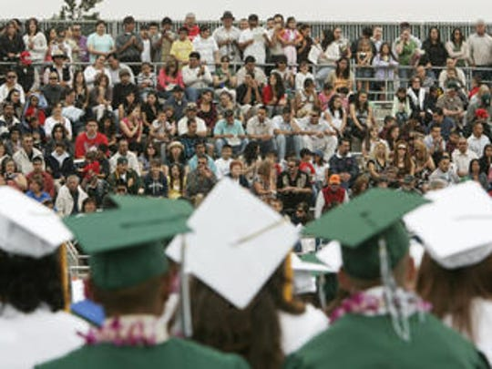 The Class of 2007 prepares to graduate from Greenfield High School.