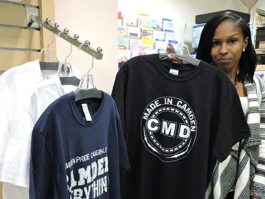 Cooper University Hospital is selling t-shirts reflecting Camden pride in its gift shop. The shirts are made by 1216 Haddon, a shop run by three veterans in Parkside.