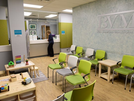 The waiting room at BVMI. The Bergen Volunteer Medical Initiative moved to a new and larger location on Essex St in Hackensack.