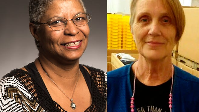 Theresa Banks and Carolyn Smith will each receive a donated vehicle from Goodwill's Wheels-to-Work program Thursday in Nashville.