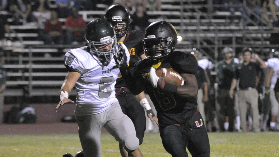 Tulare Union's Romello Harris rushed for 243 yards