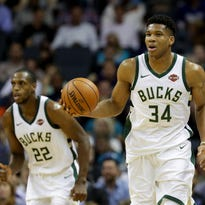 Bucks' Giannis Antetokounmpo and Khris Middleton have grown together