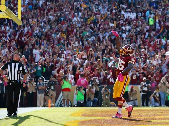 In this Oct. 16, 2016, file photo, Washington Redskins