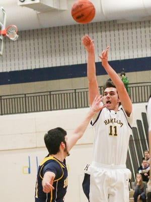 Brandon Harrison had all 13 of his points in the fourth quarter, leading Hartland to a come-from-behind victory at Fowlerville.