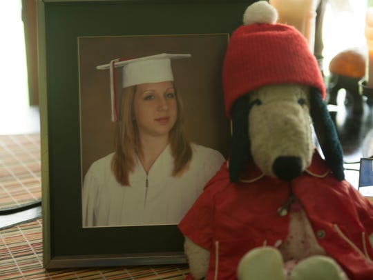 Emily Henry's senior portrait is kept on display at