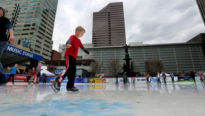 O'Keefe's Ice Rink on Fountain Square is open Christmas Day.