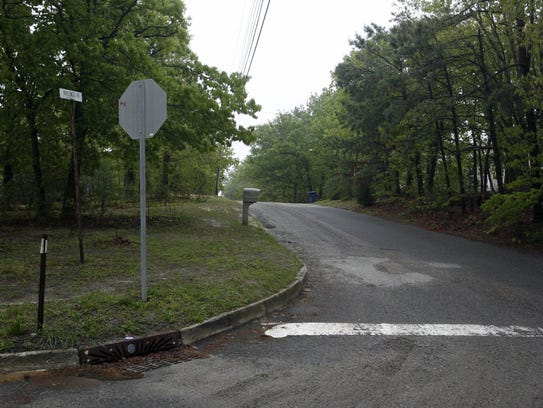 Entrance to Maplewood Drive in Little Egg Harbor early