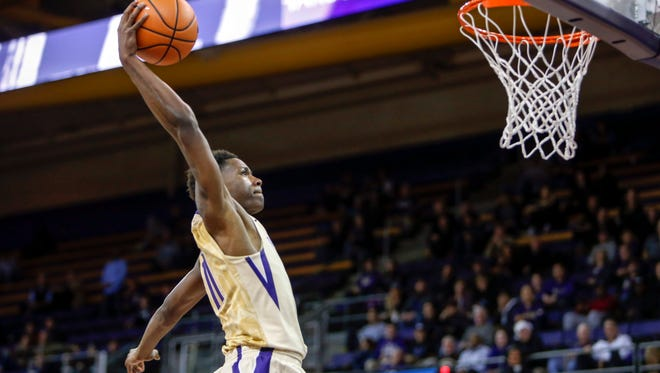 Bishop Kearney graduate Nahziah Carter averaged 5.1 points in 14 minute off the bench for the University of Washington.