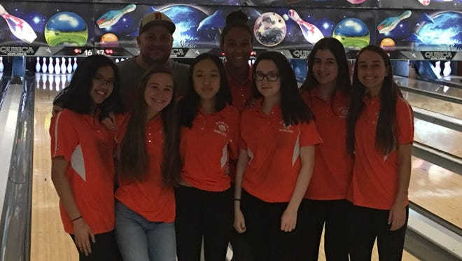 The Dumont girls bowling team captured the 2017-18 Big North American title and had five all-division honorees, plus league Coach of the Year Marc Ferrara.