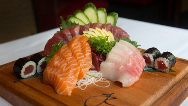 A selection of sashimi served at Jeff Ruby's Steakhouse downtown. Jeff Ruby opened the restaurant in 2001. He opened The Precinct in 1981and Jeff Ruby's Steakhouse in 1999. He has two other restaurants in Louisville and Nashville.