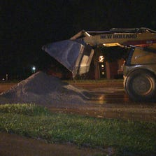 Crews are working to repair a broken water main along White Hall Manor in north St. Louis County.