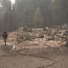 King Fire destruction in White Meadows, Sept. 19, 2014