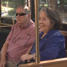 Knoxville Mayor Madeline Rogero rides the KAT bus
