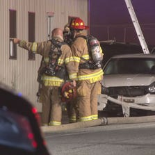 Greensboro firefighters investigating fire at Greensboro mechanic.