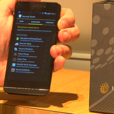 When using Blackphone, calls are encrypted, internet browsing remains anonymous, and users get alerts on apps that track info. ($629)