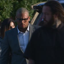 Chris Brown arrives at the DC courthouse for his Tuesday, Sept. 2 hearing.