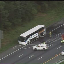 A bus fire closed the Inner Loop of the Beltway between I-95 Interchange and MD-201/Kenilworth Ave. Maryland State Police say they got a call about a bus fire at approximately 7:15 a.m. No injuries have been reported.