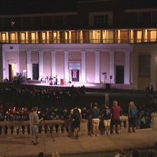 The University of Virginia community gathered for a vigil for missing student Hannah Graham on Thursday.