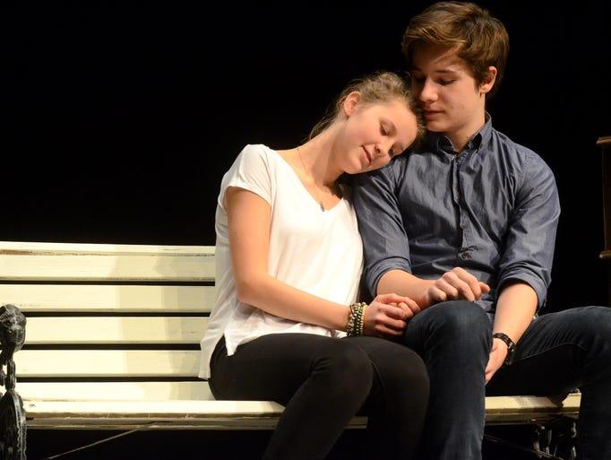 Northville High School students Celine Weimar and Marius