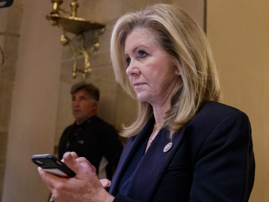 In a Thursday, Oct. 26, 2017, file photo, Rep. Marsha