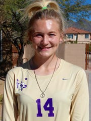 Taylor Culver, from Scottsdale Notre Dame Prep, is