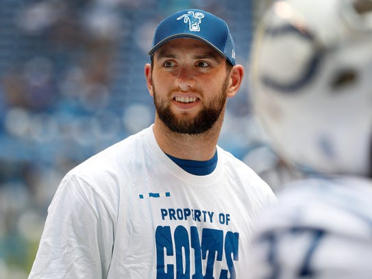 Indianapolis Colts quarterback Andrew Luck (12) in