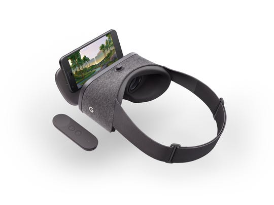 Google's new Daydream VR headset and controller.