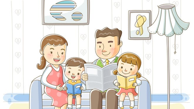 Reading as a family is a wonderful way to spend time together.