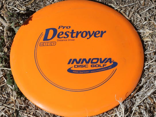 Discs used in disc golf vary in size and weight.