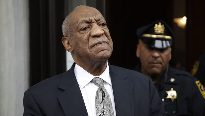 Bill Cosby exits the Montgomery County Courthouse on June 17, 2017, after a mistrial was declared in his sexual assault trial in Norristown, Pa.